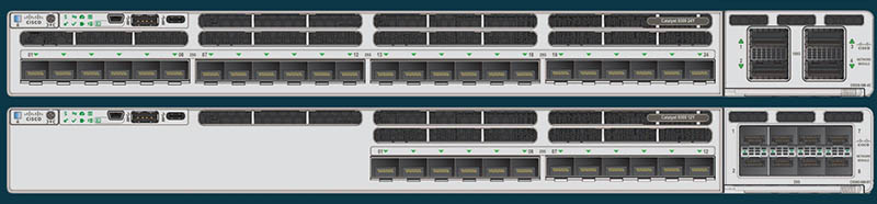 Cisco Catalyst 9300X Front 12 And 24 Port